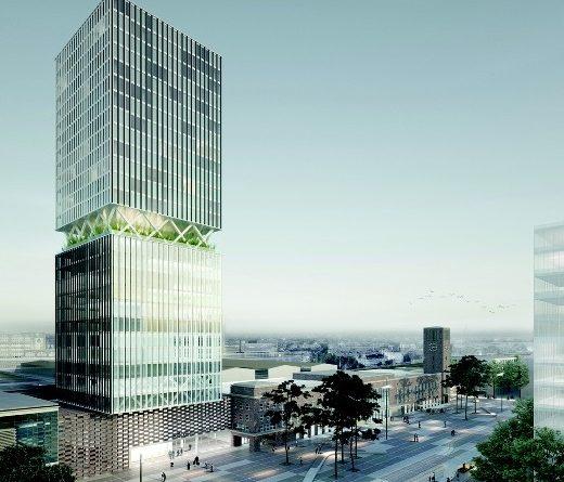 Der Turmbau am Hauptbahnhof