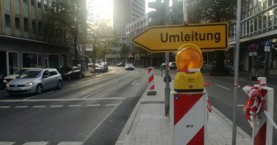 Steinstraße: Straßenabschnitt wegen Asphaltarbeiten gesperrt