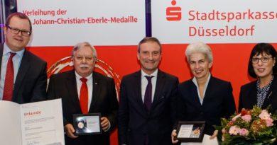 Die Sparkassenorganisation ehrt Düsseldorfer Persönlichkeiten.